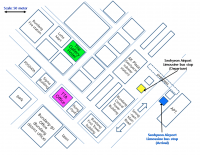 Map of the hotel and venue area